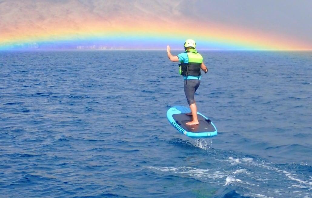 Foiling on Maui