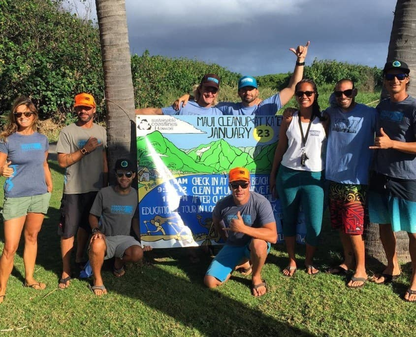 Hawaiian Paddle Sports supporting Sustainable Coastlines Hawaii Beach Cleanup