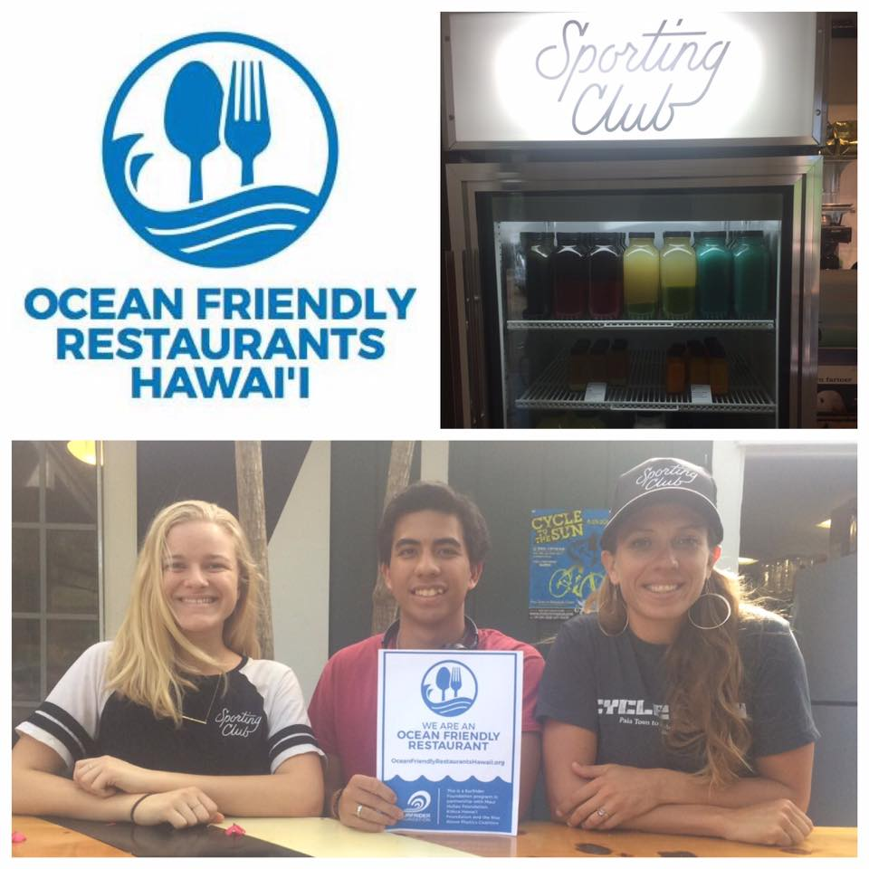 Maui Huliau ocean friendly restaurant
