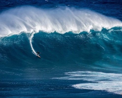 Surfing Maui Jaws