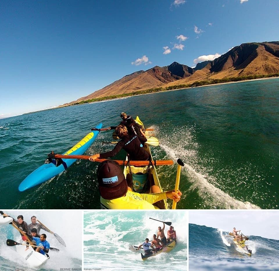 outrigger canoe surfing