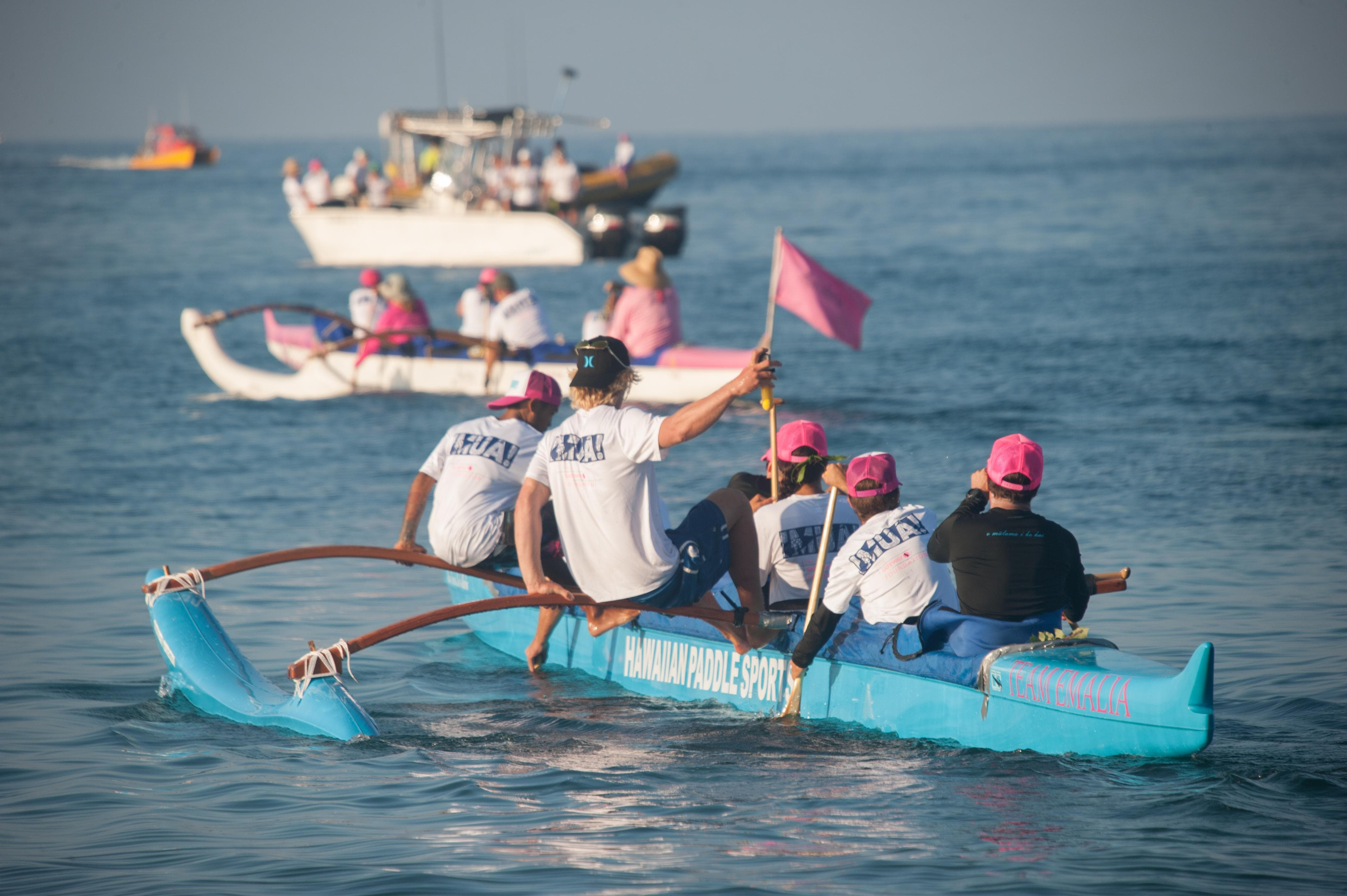 HPS guides paddle 36 miles round trip from Maui to Lanai to raise money for Pacific Cancer Foundation