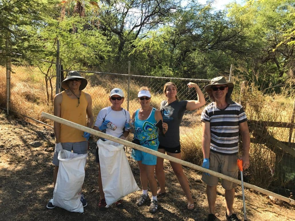 Volunteers at Maui beach clean up