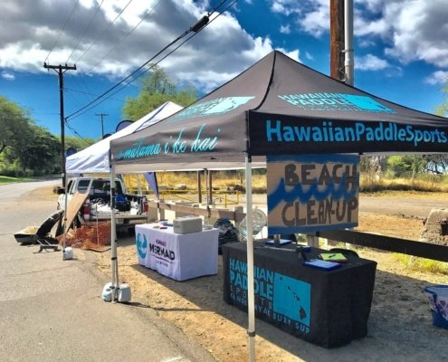 Hawaiian Paddle Sports Beach Cleanup