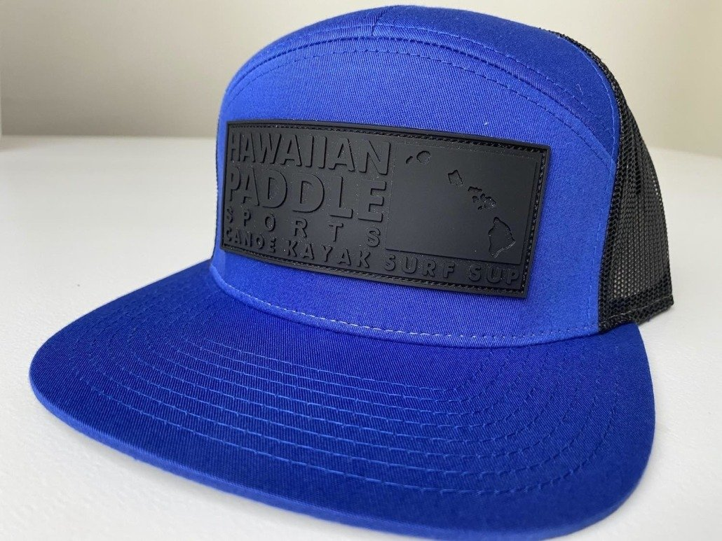 panel Royal Blue Trucker Hat side