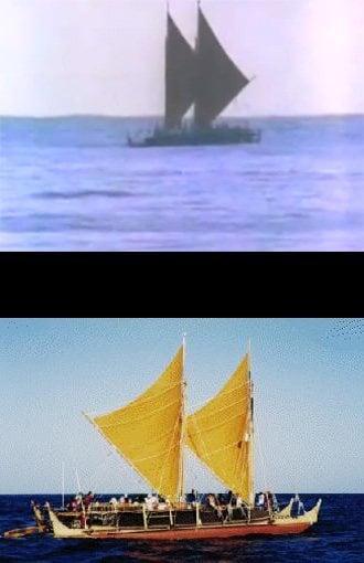 Hokulea sailing canoe