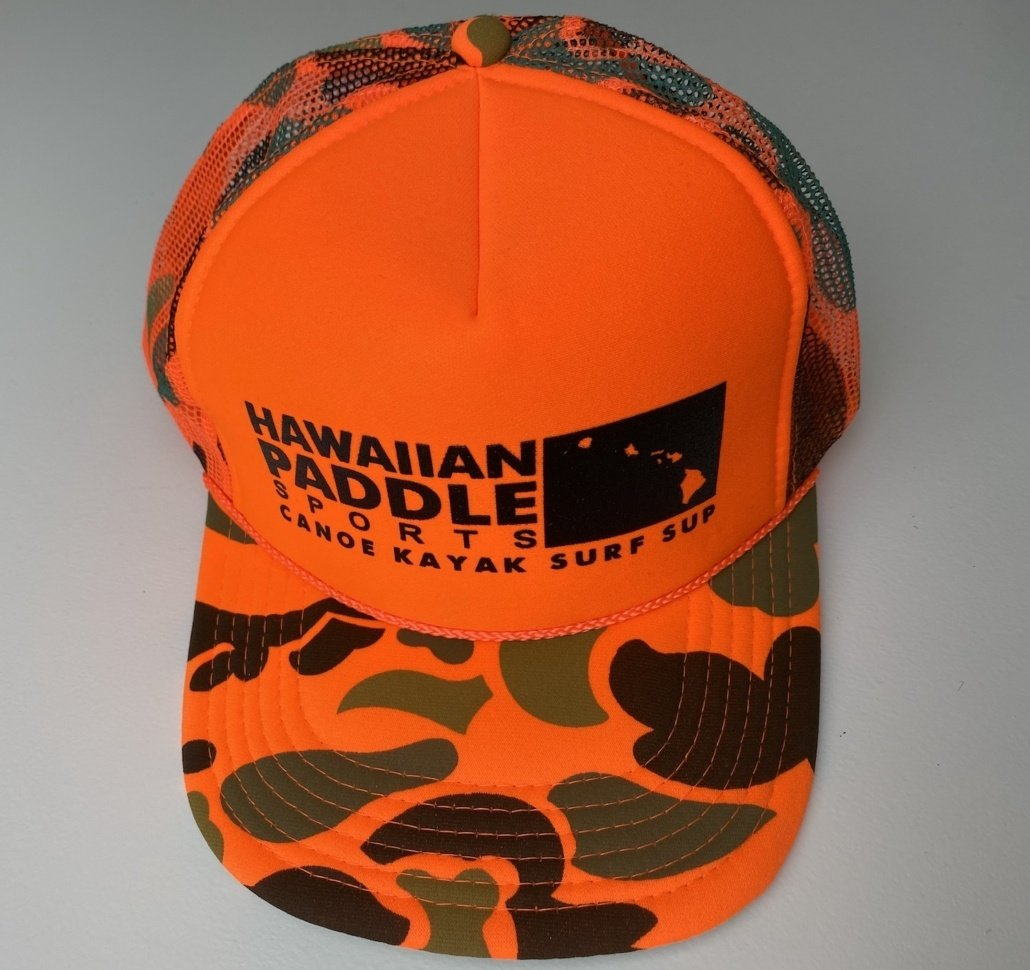Blaze Orange Camo Trucker Hat