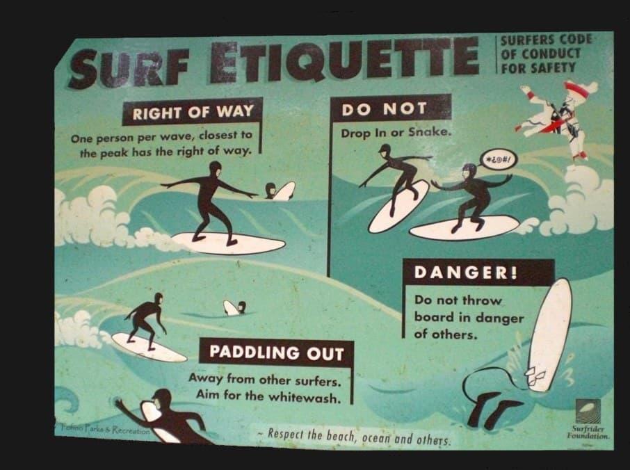 Learning proper surfer etiquette?