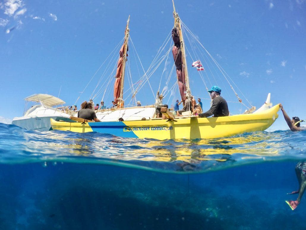 People on Hokulea's board
