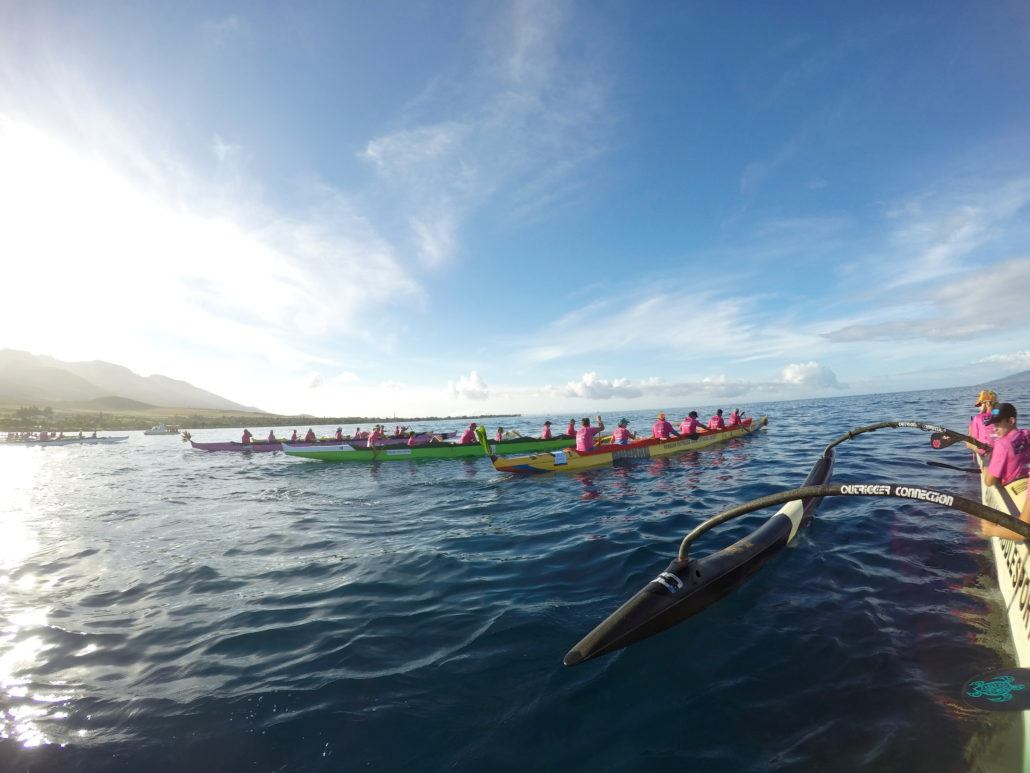 Maui Paddle For Life canoes