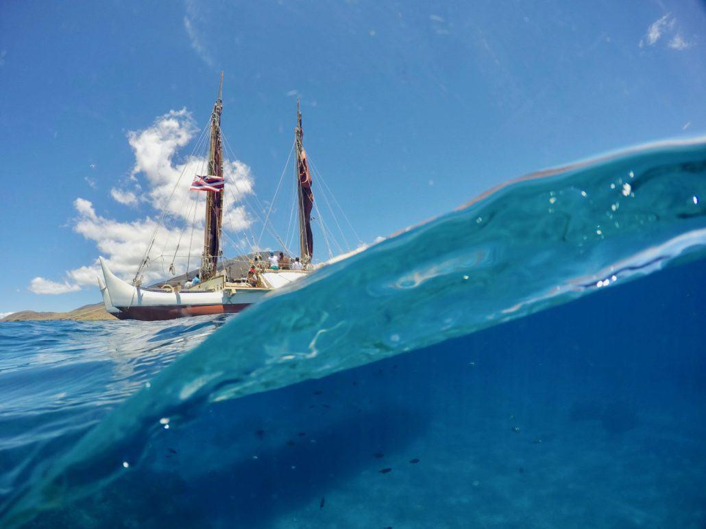 Hokulea Sailing in Maui