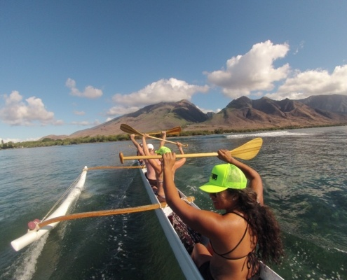 Outrigger Canoe Surfing Maui
