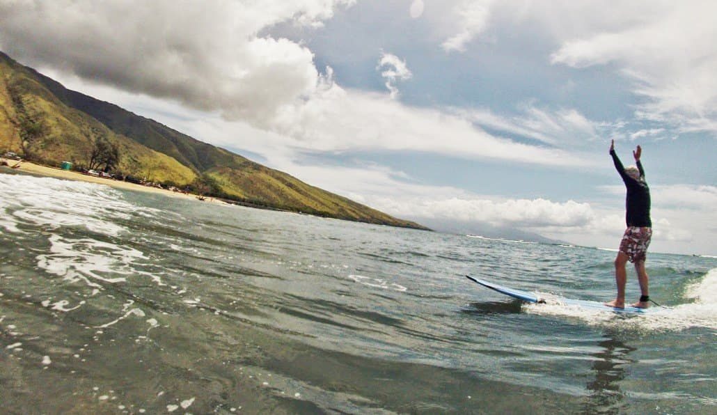 Have fun surfing in Maui