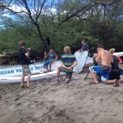 Film Crew Outrigger Canoe