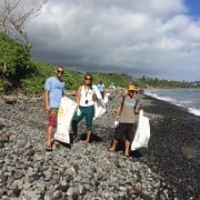 Hawaiian Paddle Sports at SUstainable Coastlines Hawaii Beach Cleanup