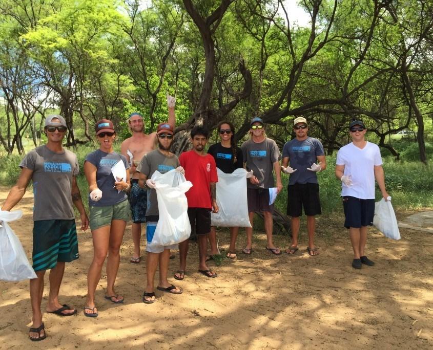 hawaiian paddle sports supports malama maui nui beach cleanup