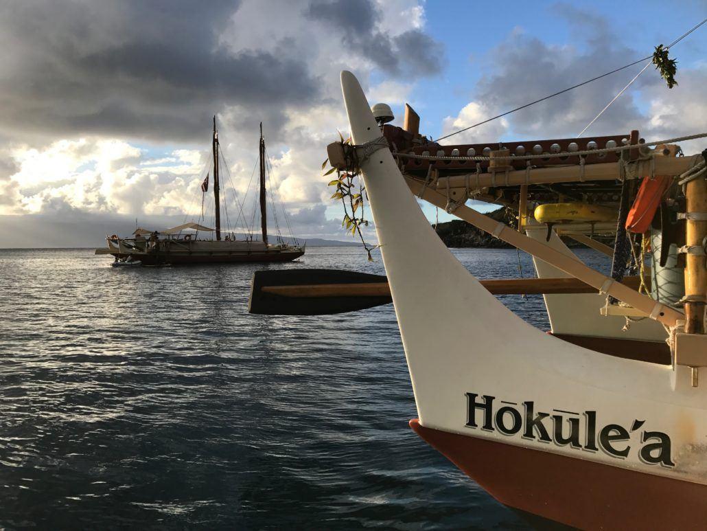 Hokulea canoes