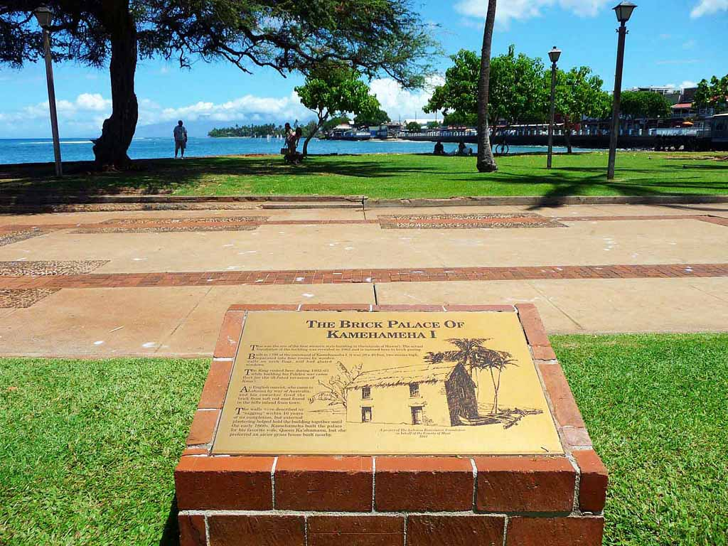 Lahaina Maui Site of Brick Palace