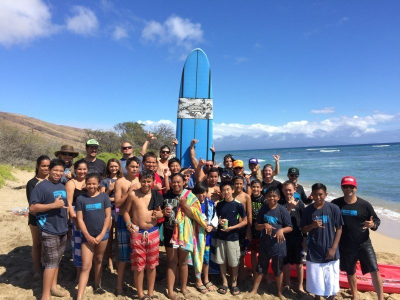 Maui Youth and Family Services and Hawaiian Paddle Sports Group Shot