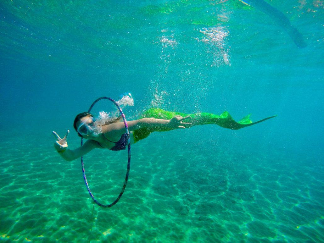 Maui Mermaid hula hooping