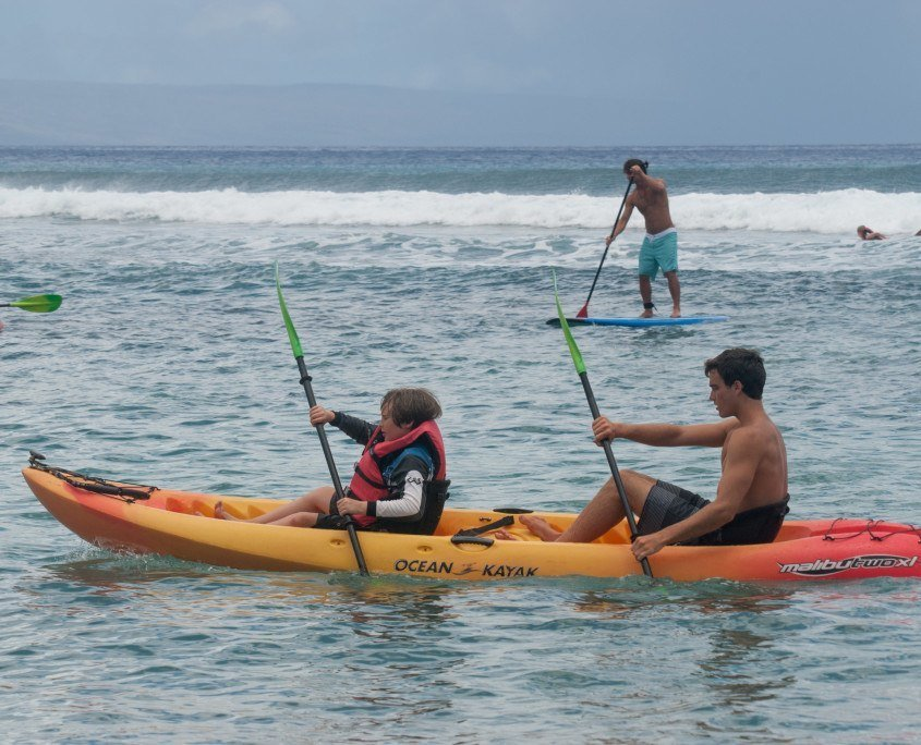 Hawaiian Paddle Sports hosts Camp Imua for Malama Maui give-back day
