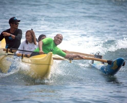canoe paddling team