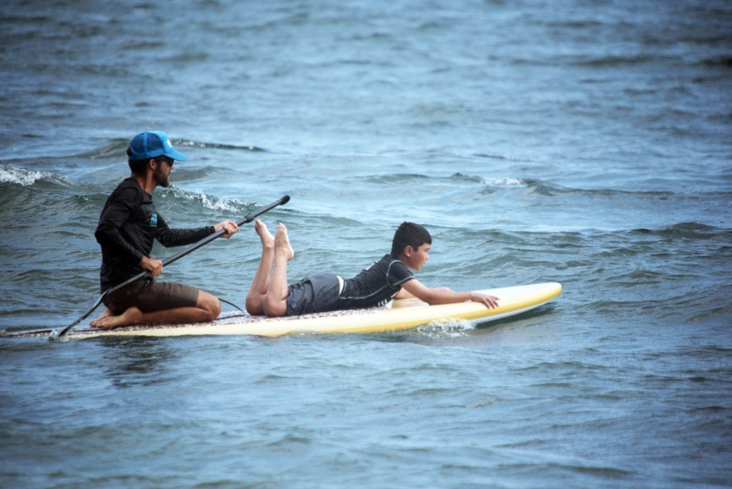 Stand Up Paddling with Maui Youth and Family Services