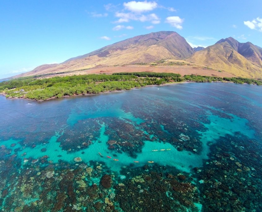 Crystal clear water at Olowalu in Maui