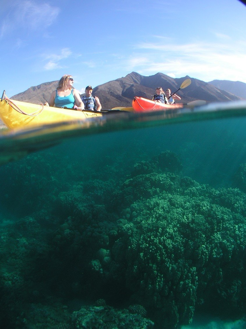 Olowalu Over under Kayak Family