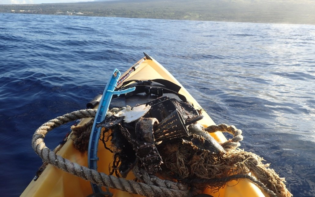 Trash found on kayak tour Maui