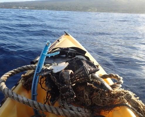 Trash found on kayak tour Maui