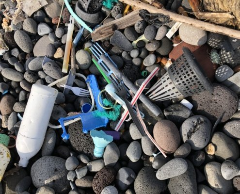 Plastic Trash on beach