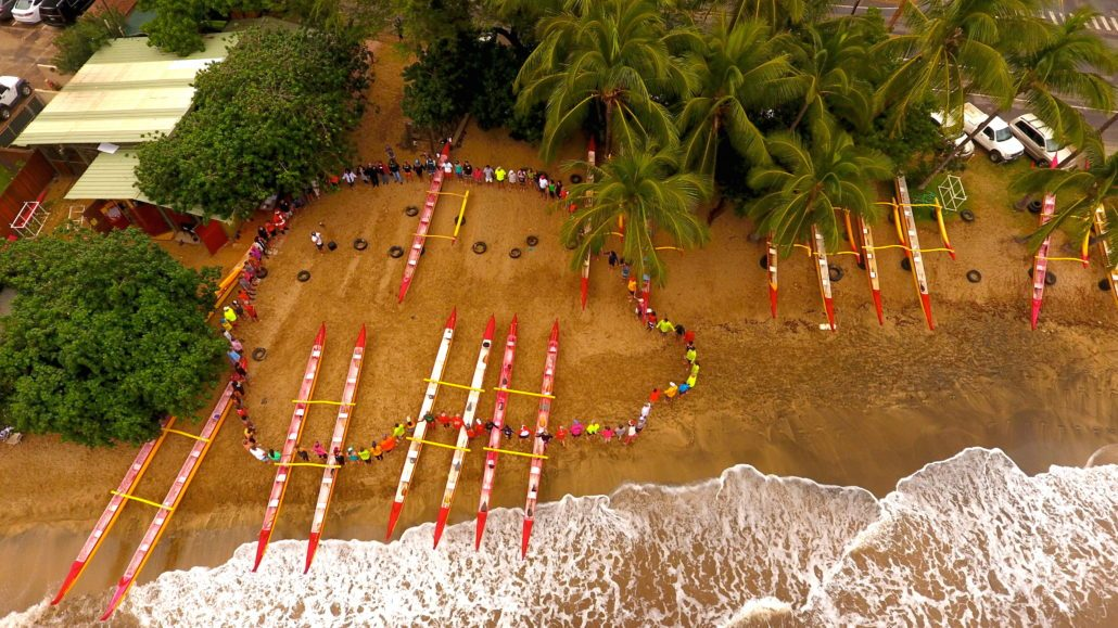 Paddle For Keiki Maui Aerial Shot