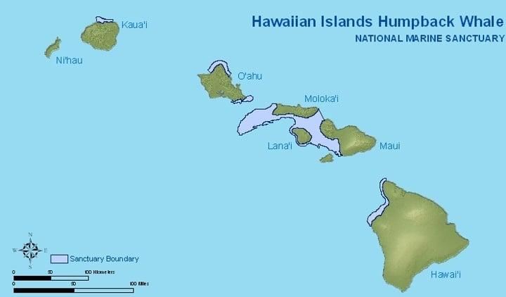 Hawaiian Islands Humpback Whale National Marine Sanctuary Bounday