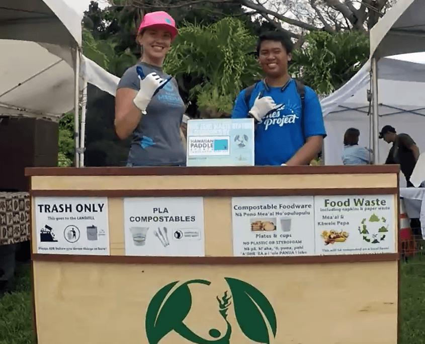 Maui Ag Fest Zero Waste Station,