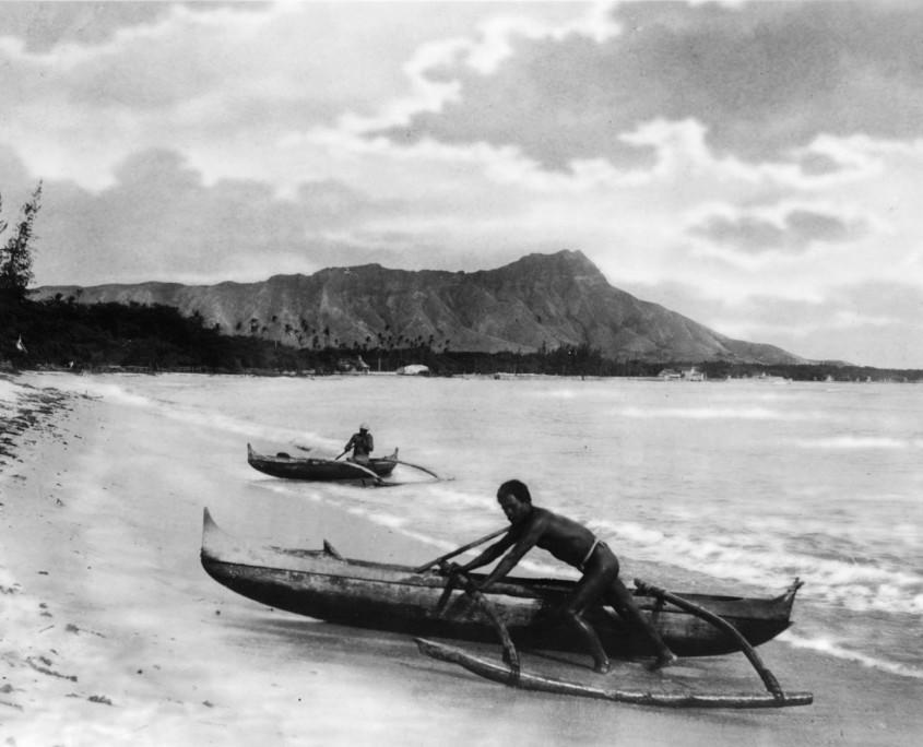 native outrigger canoe hawaiian canoe club