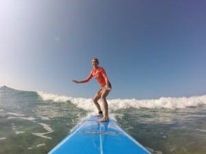 Peach Shirt Slim Female Surf