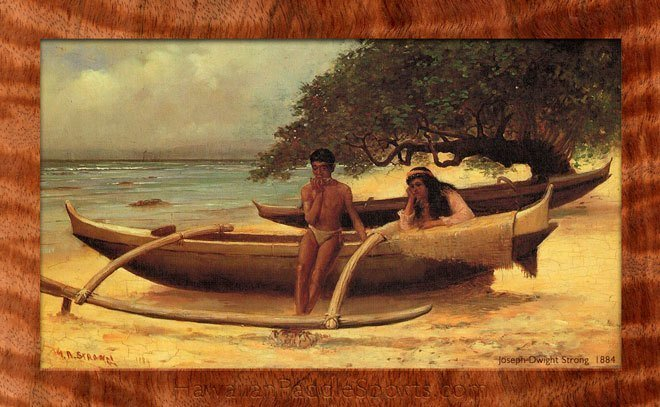 ancient hawaiian canoe