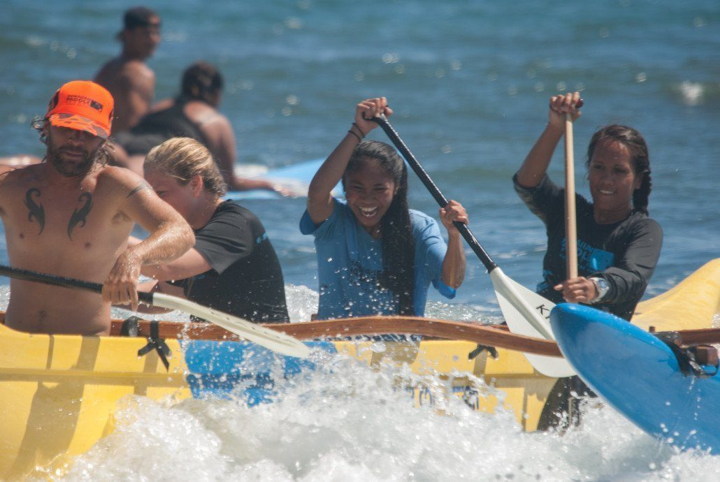 Maui Youth and family Services and Hawaiian Paddle Sports Canoe Surf