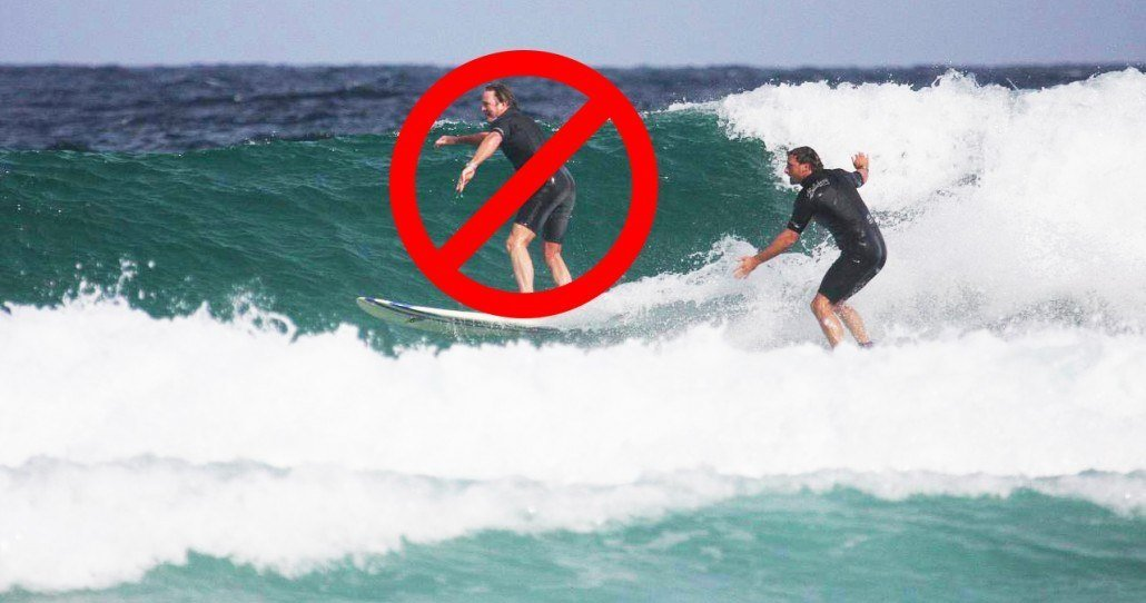 don't drop in when surfing in Maui