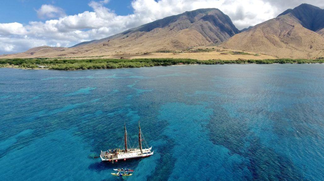 Hokulea come to Olowalu