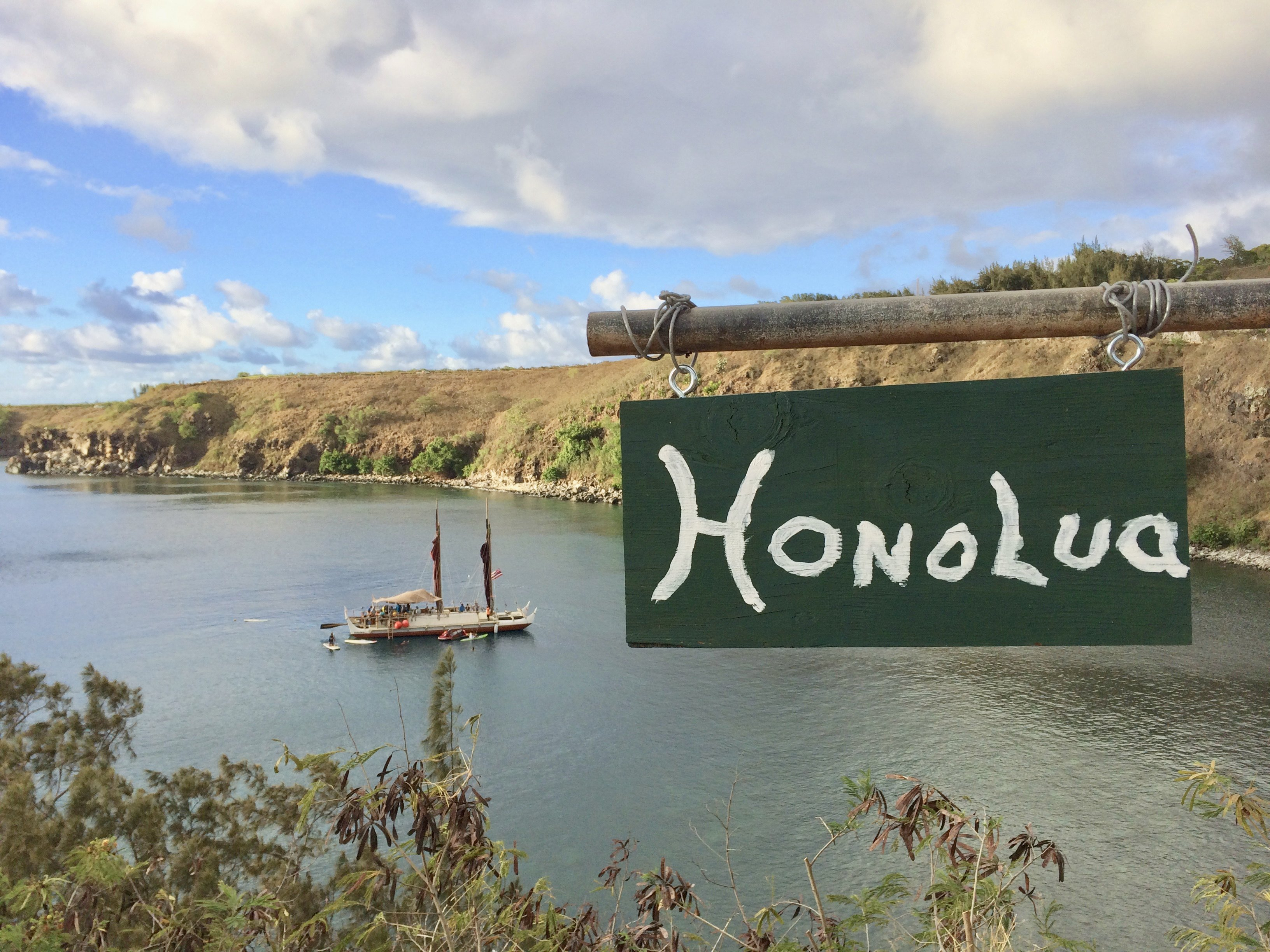 Hawaiian outrigger canoeing its history revival to date honolua sign biocorpaavc