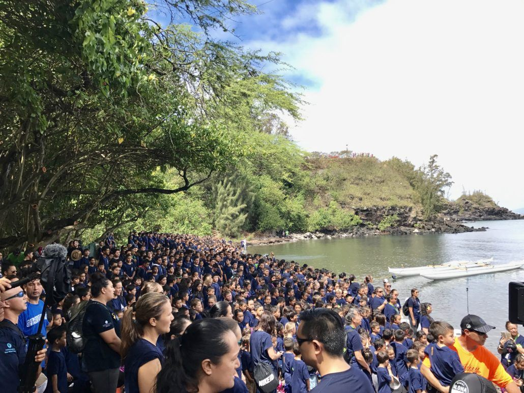 Crowd at Honolua Bay