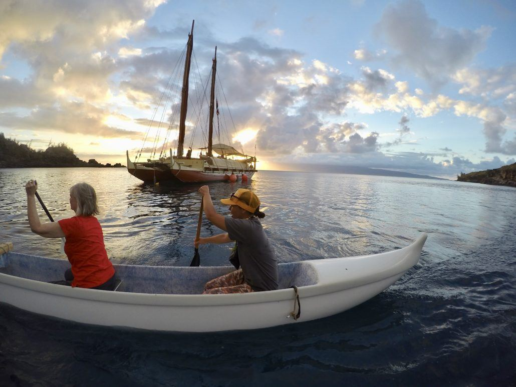 Hokulea Honolua Paddle
