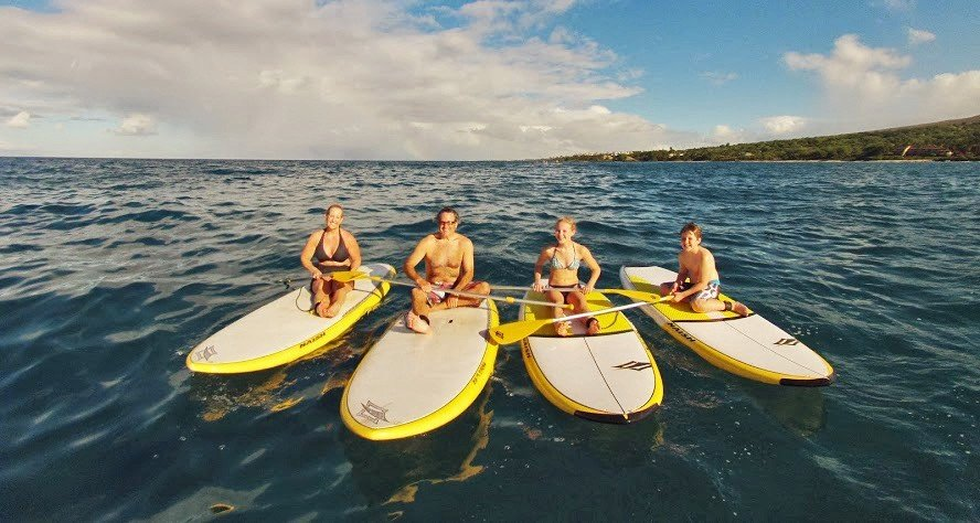 private stand up paddle lesson in Maui