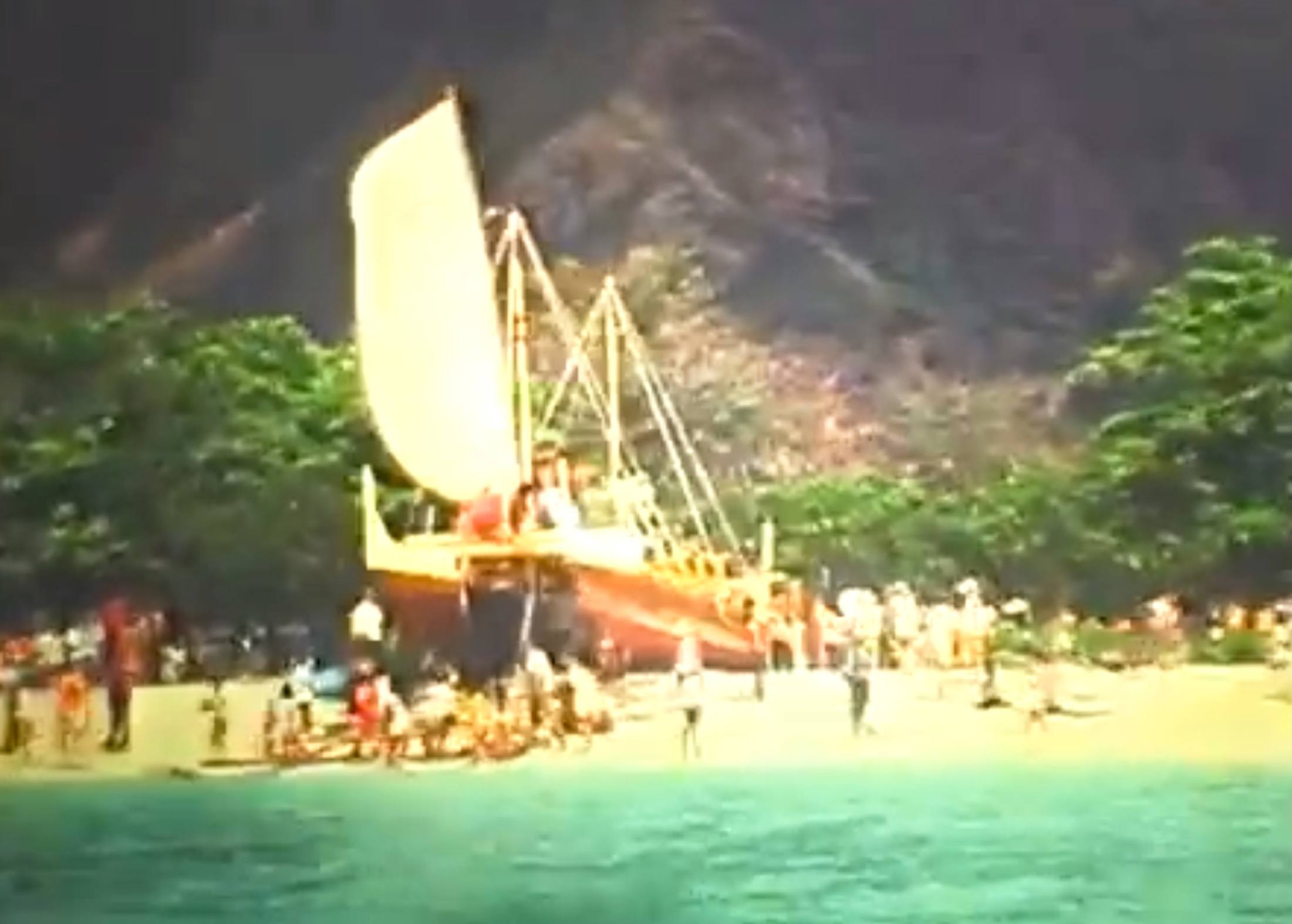 The launch of Hokule'a in 1975