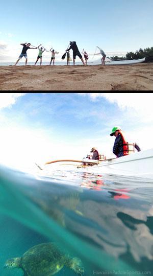 honu paddling