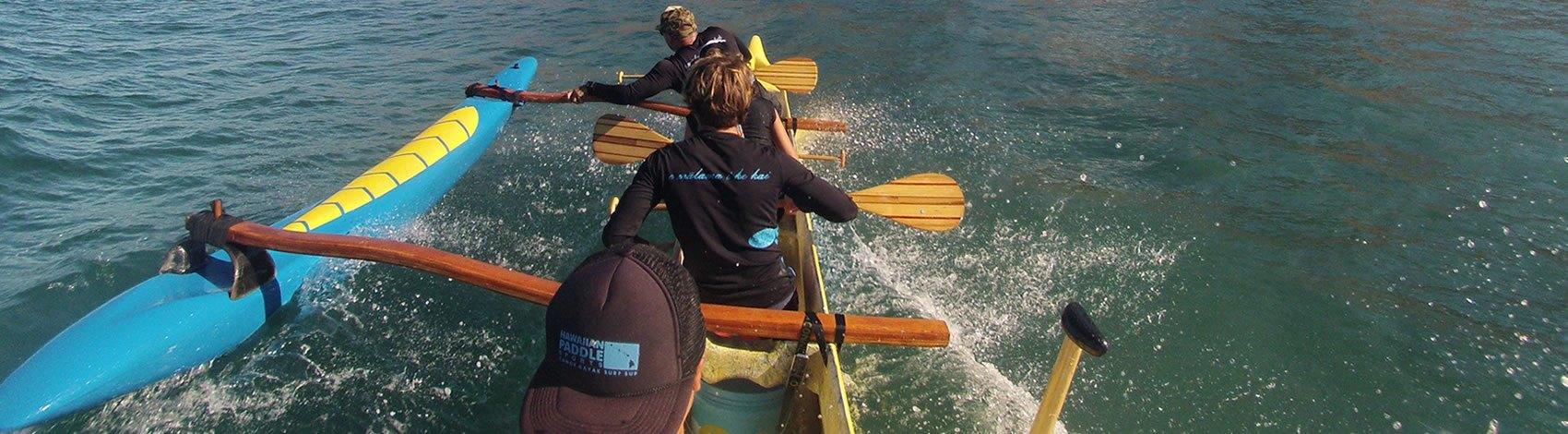 Canoe Surf Lesson Maui Hawaii