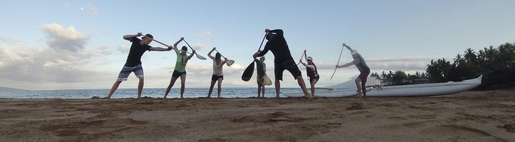 Outrigger Canoe Lesson On The Beach
