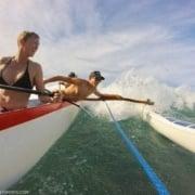 Maui canoe surfing